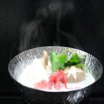 当館オリジナル『常陸牛の美人豆乳鍋』