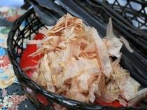 お出汁に使用する昆布と鰹節