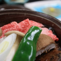 自家製味噌を使った常陸牛の朴葉焼き