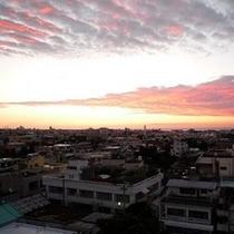 7F(最上階)からの朝陽