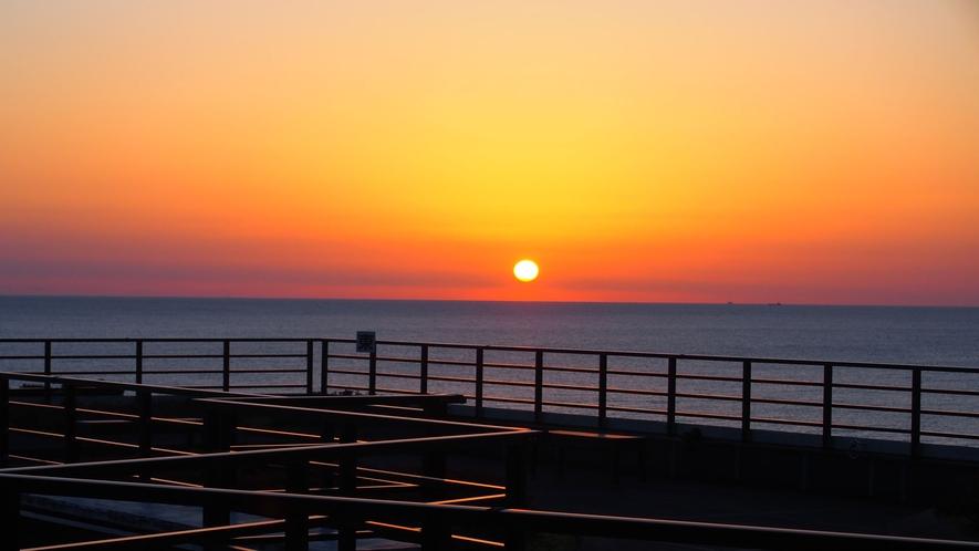 朝陽を浴びて始まる一日