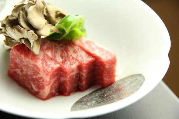 『信州プレミアム牛肉サーロイン50g』陶板焼きプラン【温泉】