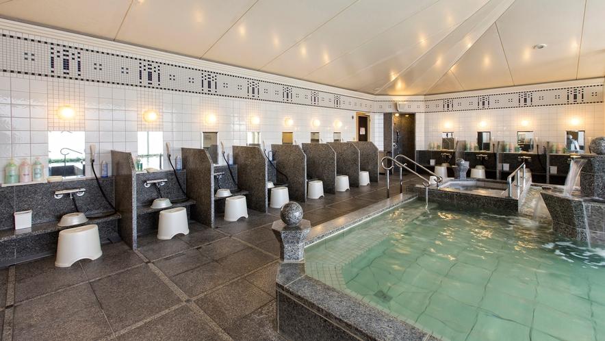 気品ある御影石の浴室