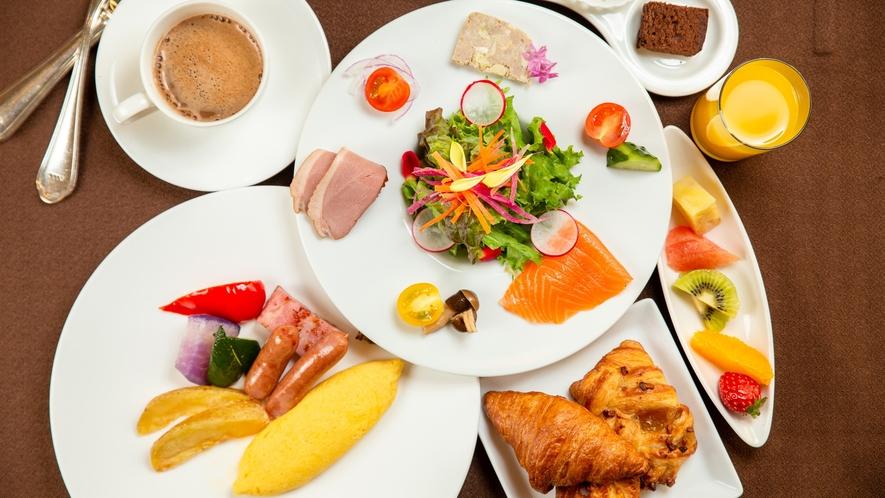 北海道産食材をメインにした和洋朝食バイキング(イメージ)