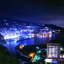 熱海城の駐車場から見る特別な夜景