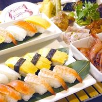 お子様大好きサーモンもあるよ♪お寿司や刺身も食べ放題