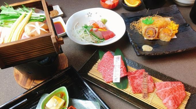 【当ホテル人気No.1!料理長お勧め】厳選和牛食べ比べ&豚ロースと地元野菜の蒸籠蒸しコース