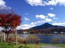 紅葉の白樺湖