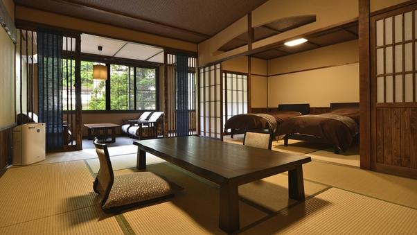 【和スイート/限定3室】和室ツイン+12畳+広縁◆バス付
