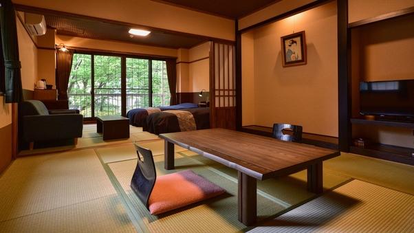 【二間続き和洋室】ツインベッドルーム+和室10畳