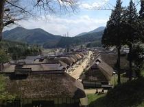 【大内宿】重要伝統的建造物群指定。会津城下と日光を結ぶかつての宿場町。(当館より車で約45分)