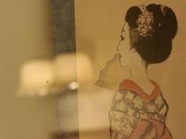 ●竹久夢二ギャラリー 新滝には3度滞留。当時夢二が描いた東山芸妓を見ることができます。