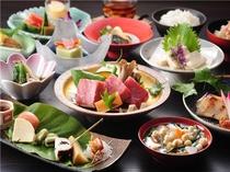 【ご夕食】創作会津郷土料理夏会席の一例