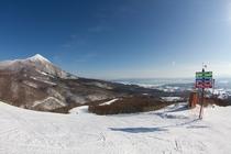 アルツ磐梯スキー場の眺め 壮観な景色の中豊富なコースを楽しめます♪