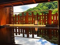●姉妹館 千代滝の半露天風呂「ふもと湯」/湯めぐり無料サービス付き(徒歩約4分)