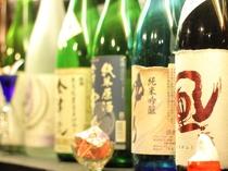 日本酒の品揃えが自慢の宿です。常時30種類以上を揃えております。迷われたらぜひお声かけください♪