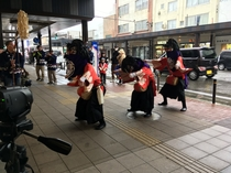五穀豊穣・家内安全を祈り練踊る春の風物詩。会津彼岸獅子。太鼓と笛の音色と共に市内に参上!