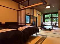 一例◆二間続きの和洋室◆(ベッドルーム+和室)トイレ付