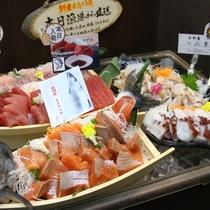 夕食ビュッフェの浜直新鮮魚介類!旬の海鮮をご用意しています♪