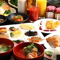 ナトゥール朝食名物「なまらめし」をはじめ、和洋さまざまな料理が朝から楽しめます♪