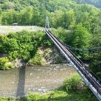 【宿の前】*吊り橋
