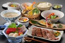 牛タン+三陸刺身付き夕食