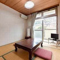 *【客室一例:本館和室6畳】2名様までご利用いただける和室です。