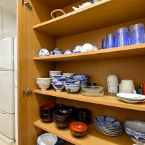 *【施設内設備:炊事場】簡単な食器類などもご用意しております。
