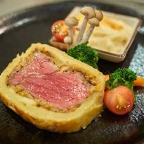 夕食一例/見た目にも味付けにもこだわった一品。味わってお召し上がり下さい。