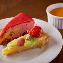 デザート一例/見た目にもかわいらしい♪デザートもご用意。