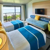 デラックスシービュー(一例)/沖縄の海を思わせる、明るくシックな雰囲気のお部屋。