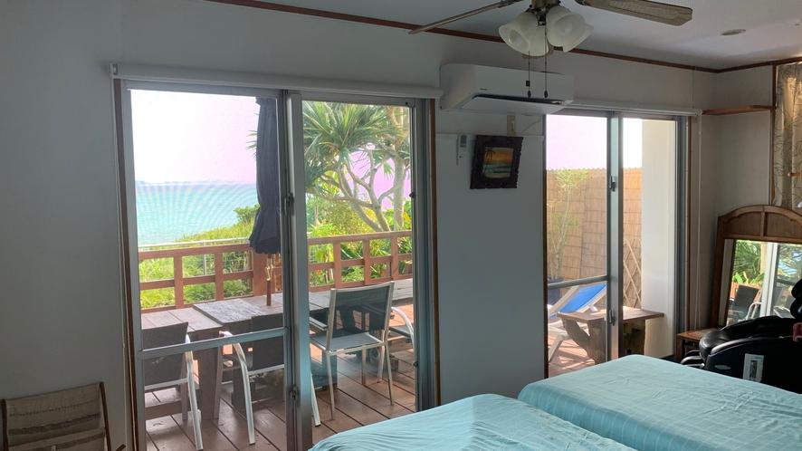 海の見える部屋シングルベット2