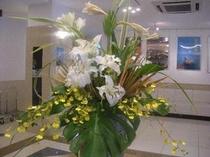 2009.8ロビー花