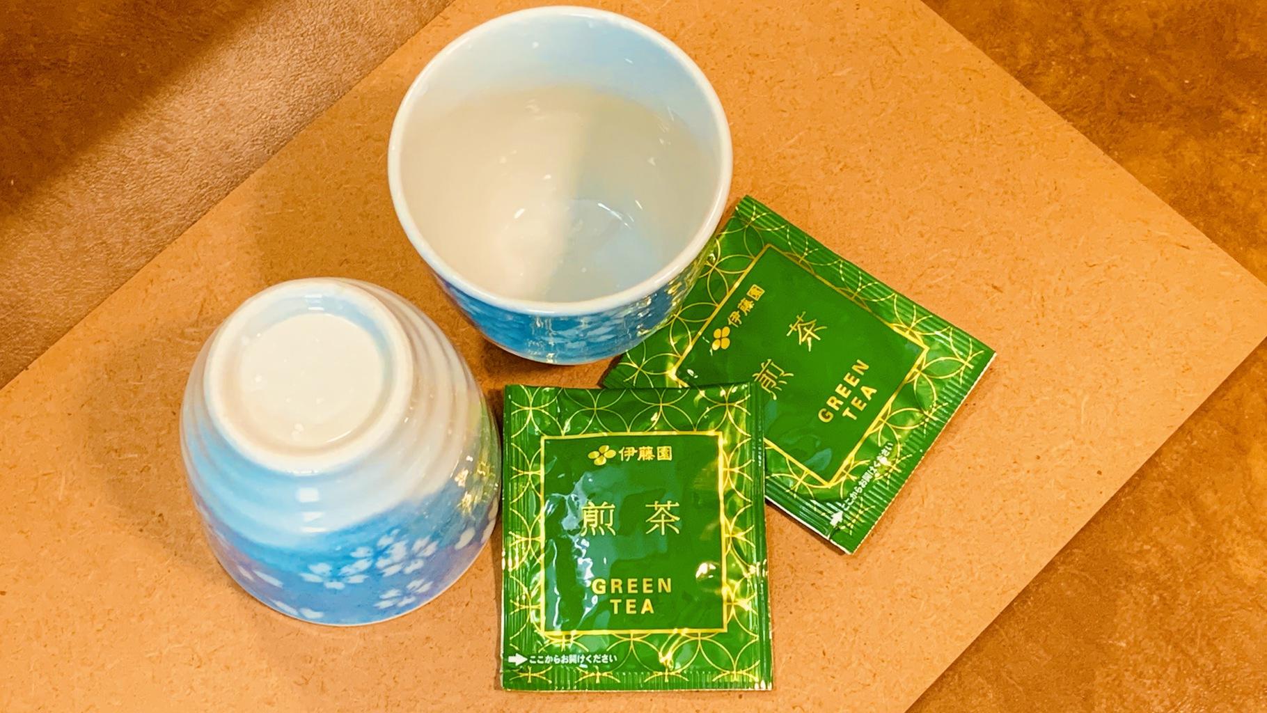 緑茶のティーバッグ