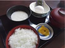 【とろろ定食】定番朝メニュー!