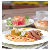 朝食の一例(和食、洋食がお選びいただけます。)