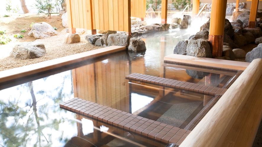 【くにうみの湯】空を眺めながら温泉が楽しめる湯枕。