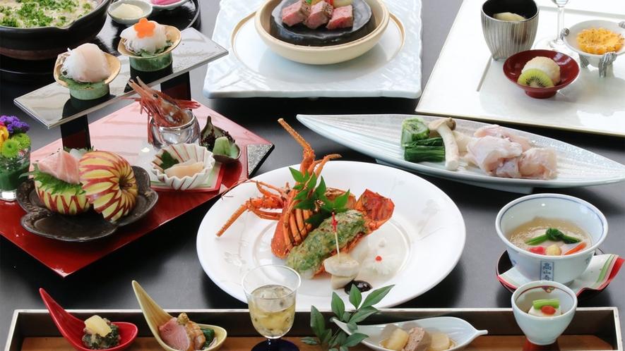 日本料理「優山」旬の食材を使った料理長推奨コース(一例)