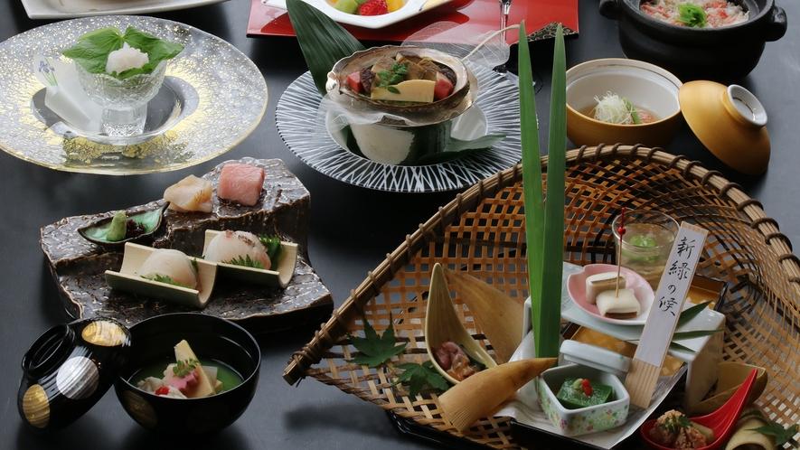 4/8~日本料理「優山」白海老や黒鮑、北海道産毛蟹など産地直送の食材を使用した推奨コース