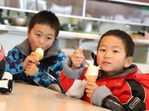 寒い時ほど美味しいアイスクリーム♪レストハウスでお召し上がりください。