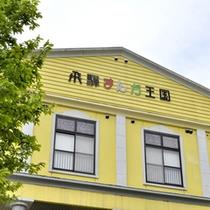 飛騨の自然によく映える黄色い建物が目印です☆