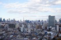 客室からの景色(東京タワー方面)