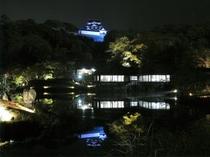 彦根城ライトアップ(彦根城内 玄宮園)  2017年9月30日~10月22日の土日祝