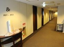客室階 廊下 2015年リニューアル