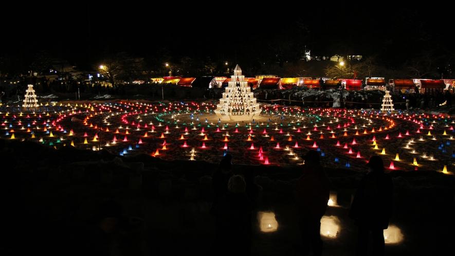 雪灯篭祭りキャンドル