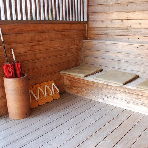 『貸切露天風呂』横の休憩所