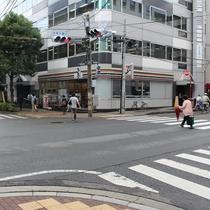 コンビニまで徒歩10秒(道を挟んでナナメ向い)