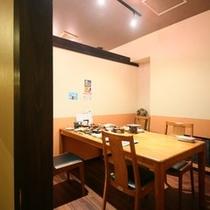 """全19室、プライベート感を大切に仕切った個室タイプのお食事処「天心」。""""季節の伊豆""""をご堪能くだ"""
