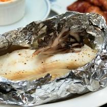 白身魚のホイル焼き 片品村特産のマイタケのせ【夕食単品】