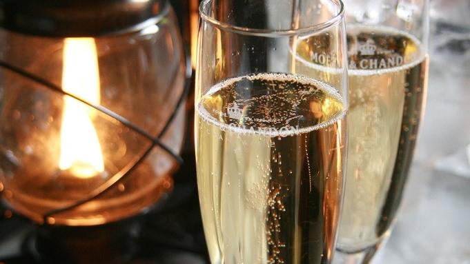 【海を眺めながらシャンパンで乾杯!】「恋語りの間」で大切な人と過ごす休日。お食事は伊勢の味覚を満喫